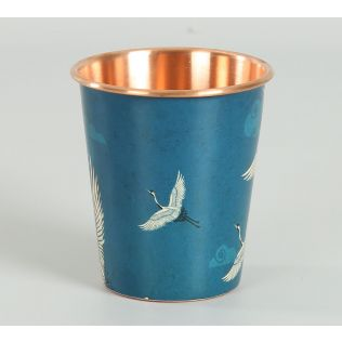 India Circus by Krsnaa Mehta Legend of the Cranes Copper Tumbler Small