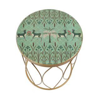 India Circus by Krsnaa Mehta Mirroring Deer Garden Side Table