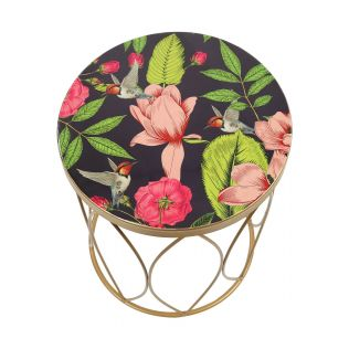 India Circus by Krsnaa Mehta Warbled Verdure Side Table