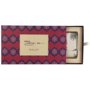 India Circus Chevron Palms Ladies Wallet