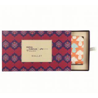 India Circus Colour Block Pineapple Ladies Zipper Wallet