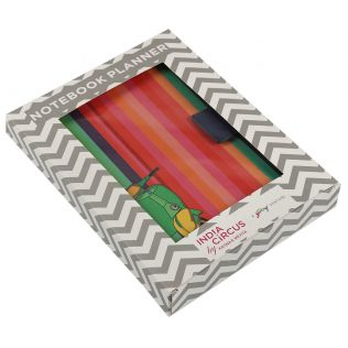 India Circus Colour Pop Scooter Notebook Planner