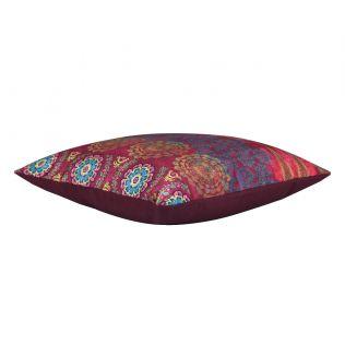 India Circus Conifer Rangoli Canvas Cushion Cover