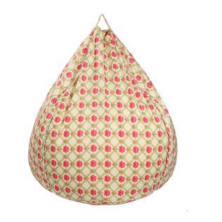 India Circus Conifered Lotus Symmetry Bean Bag Cover