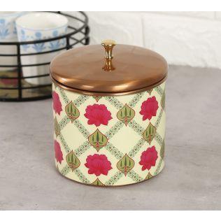 India Circus Conifered Lotus Symmetry Storage Jar