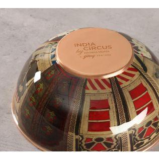 India Circus Doors Of Mystical Wonder Copper Bowl