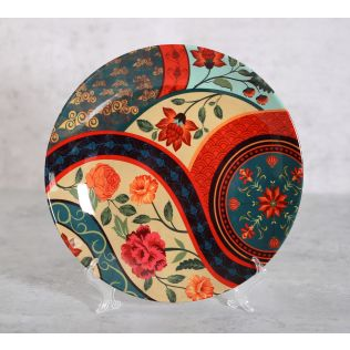 India Circus Floral Embroidery Decor Plate