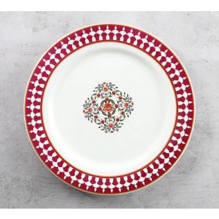 India Circus Floral Fountain Dinner Plate