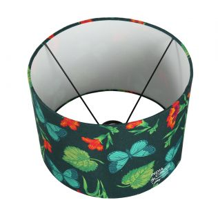 India Circus Fluttering Extravagance Cylindrical Lamp Shade