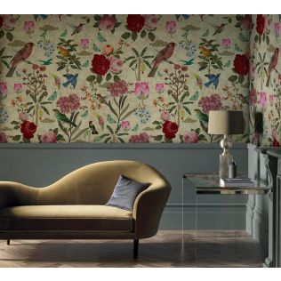 India Circus Fluttering Feathers Envisage Wallpaper