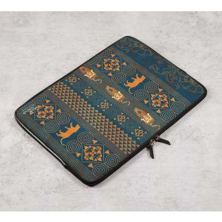India Circus Geometrical Empress Blue Laptop Sleeve