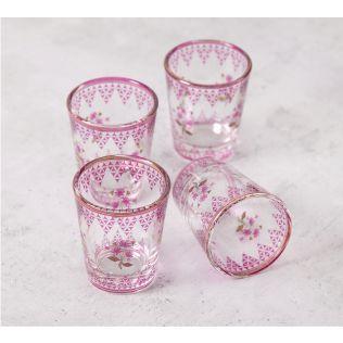 India Circus Lattice Lotus Shot Glass (Set of 4)
