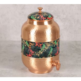 India Circus Parrots of the Night Copper Water Dispenser