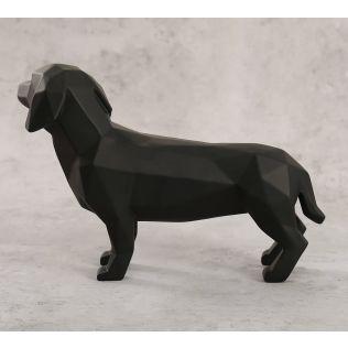 India Circus Pitch Black Dachshund Figurine