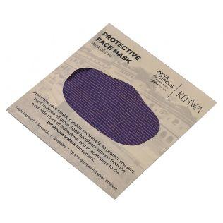 India Circus Purple Textured Cotton Mask