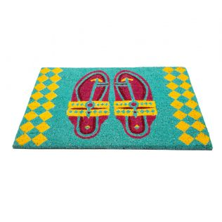 India Circus Step in Style Teal Doormat