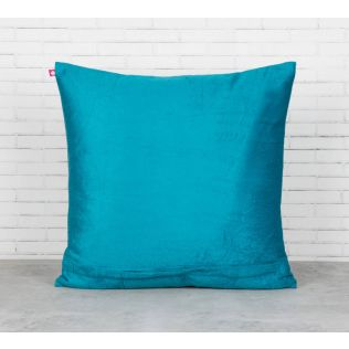 India Circus Teal Forest Fetish Blended Velvet Cushion Cover