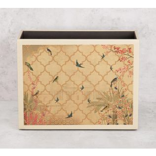 India Circus The World from my Window Leather Desk Organiser