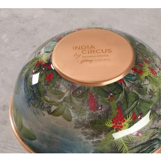 India Circus Tropical View Copper Bowl