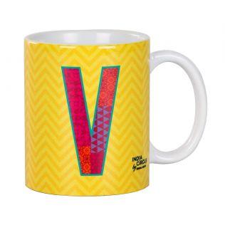 India Circus Victory Alphabet V Mug