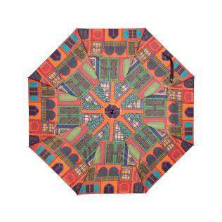 India Circus Mughal Doors Reiteration 3 Fold Umbrella