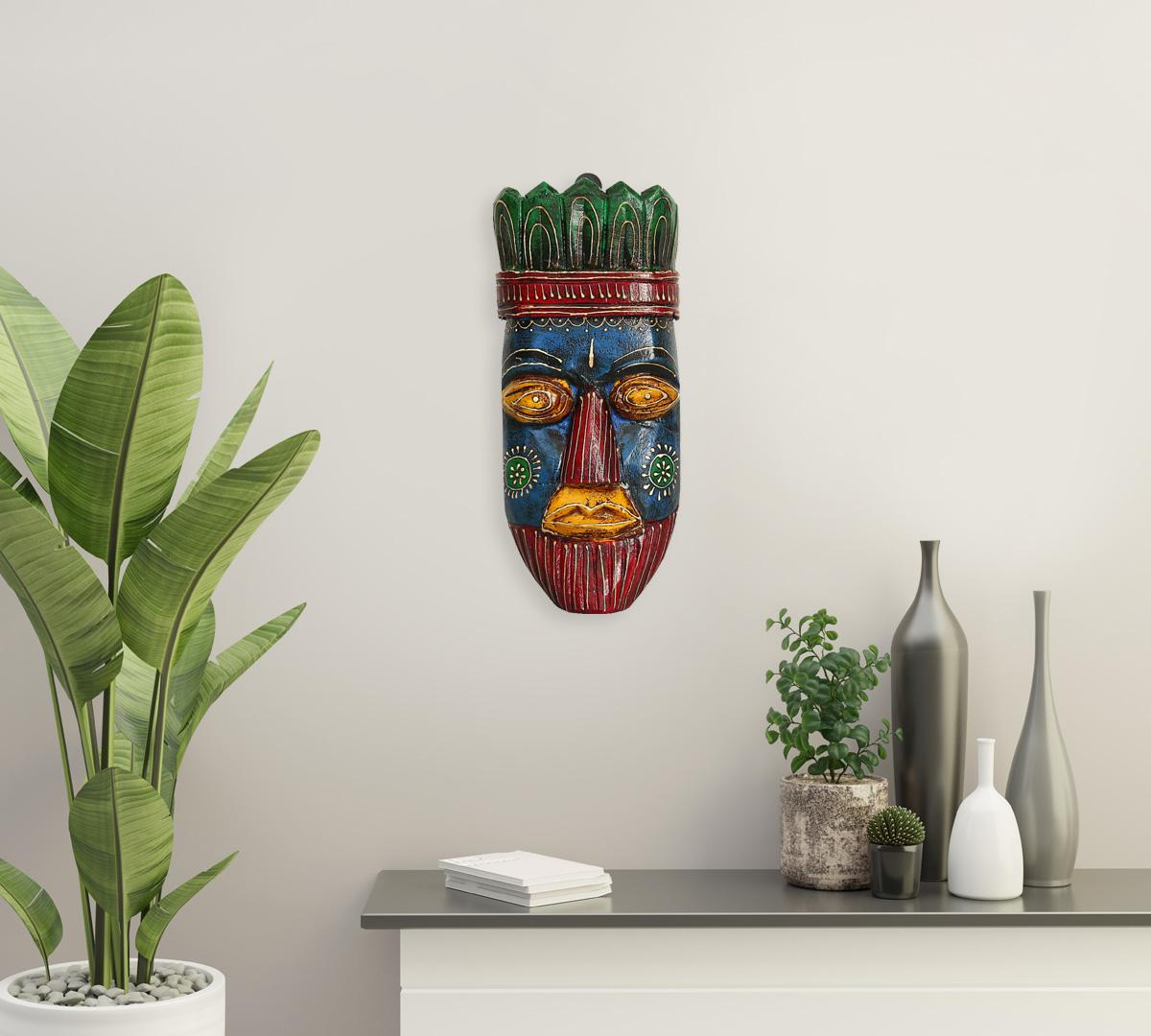 Blue Hamadryad Decorative Wooden Mask
