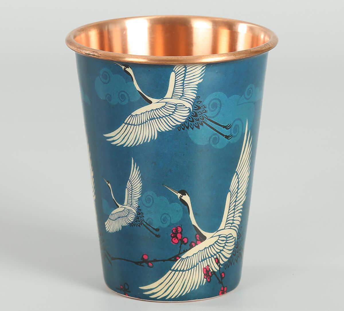 Legend of the Cranes Copper Tumbler