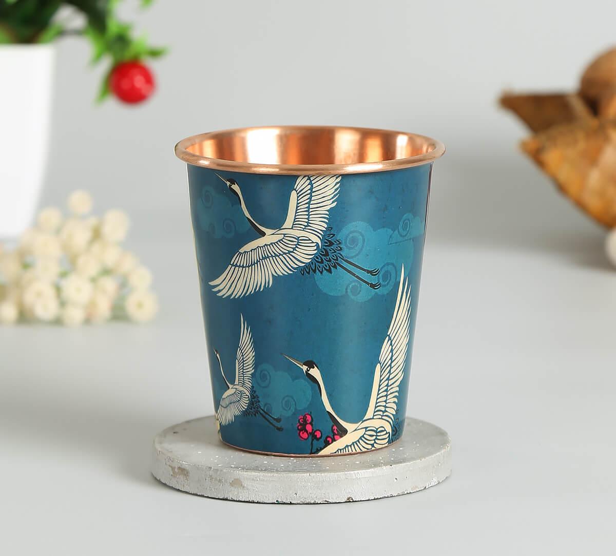 Legend of the Cranes Copper Tumbler Small