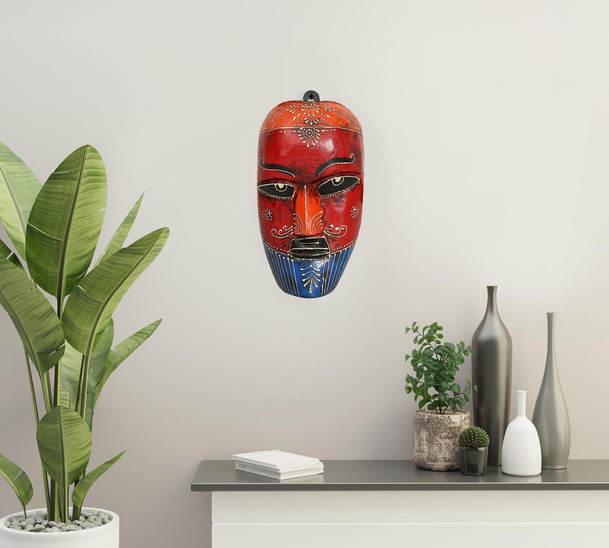 Cardinal Nymph Decorative Wooden Mask